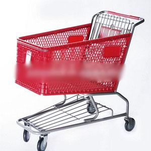 Carrinho de supermercado dobrável