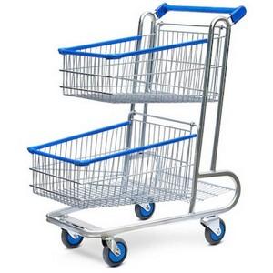 Carrinho de compras para condomínio de plastico