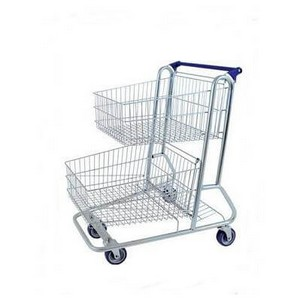 Carrinho dupla cesta de plástico