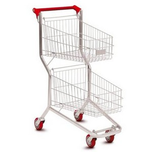 Comprar carrinho de mercado duas bandejas
