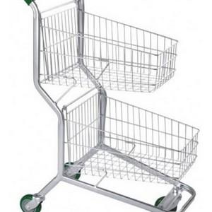 Comprar carrinho supermercado duas cestas