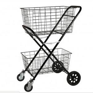 Carrinho supermercado plastico duas cestas