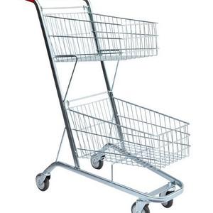 Mini carrinho supermercado plástico duas cestas