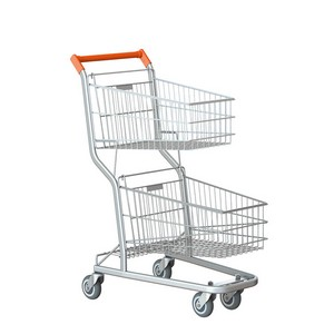 Valor de carrinho supermercado duas cestas