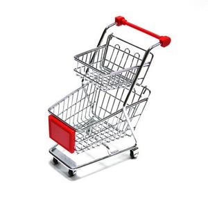 Onde comprar mini carrinho supermercado duas bandejas