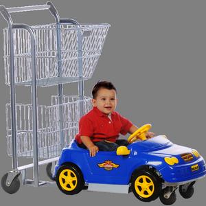 Carrinho de mercado infantil